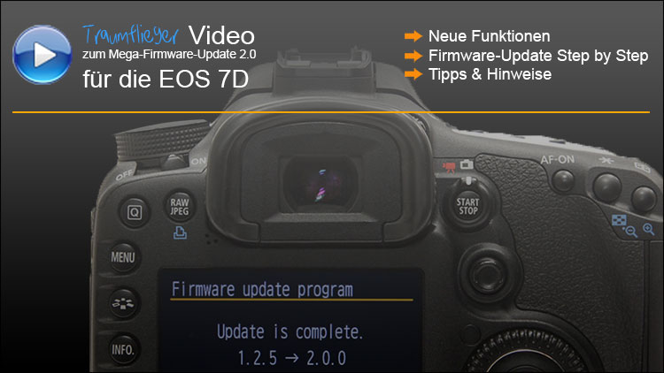 Canon EOS 7D Firmwareupdate 2.0