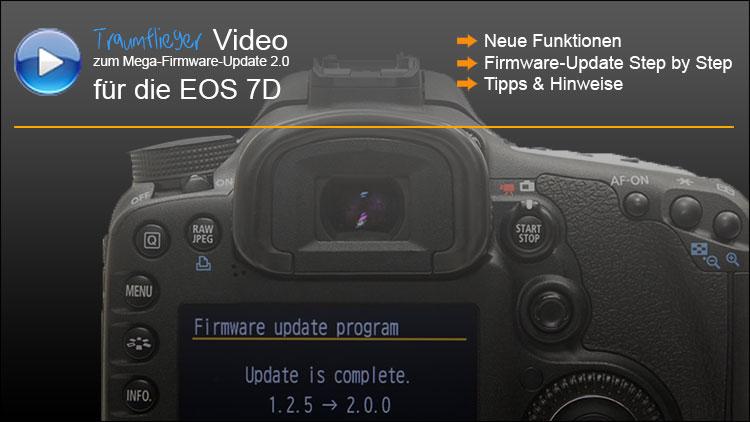 Canon EOS 7D Firmwareupdate 2.0