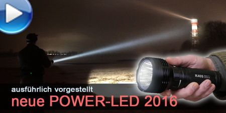 Video: neue Power-LED-Taschenlampen 2016 im Test