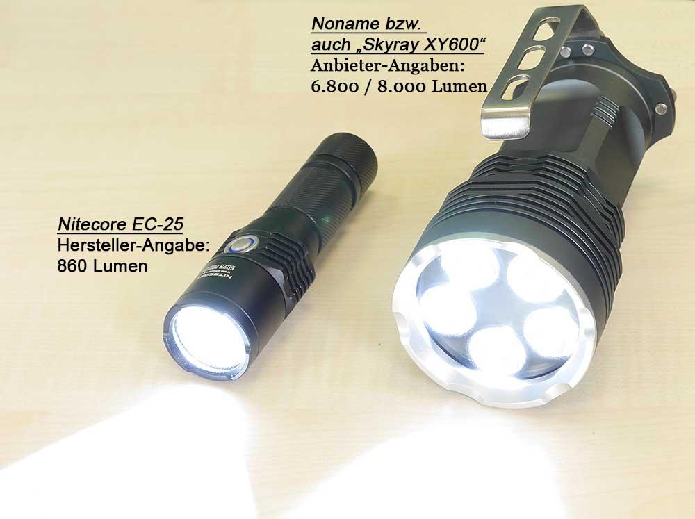 taschenlampe 500 lux