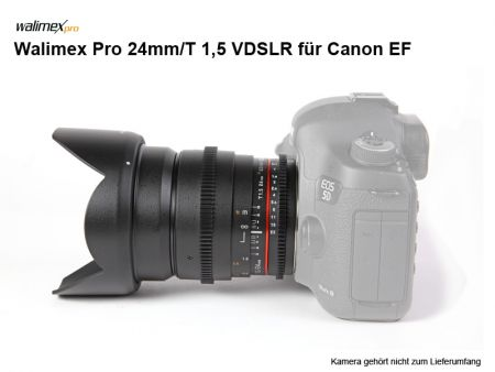 Walimex Pro 24mm/1.5 VDSLR for Canon