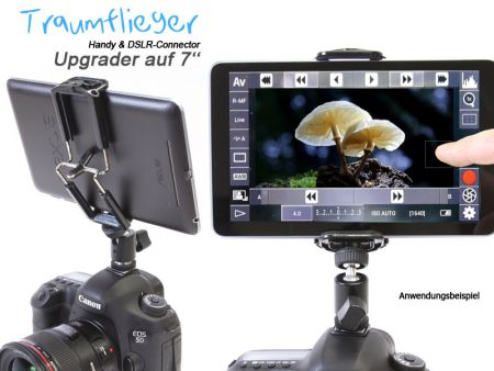 Upgrader to 7''-Tablets (for Handy & DSLR Connector)