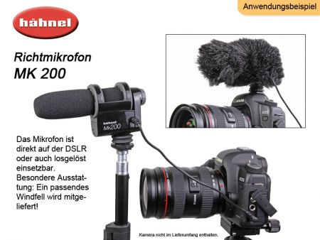 Hähnel Mk200 Directional Microphone for DSLR and Camcorder