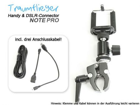 Traumflieger Handy und DSLR Connector NOTE PRO