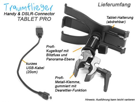 Traumflieger Handy & DSLR Connector Tablet Pro