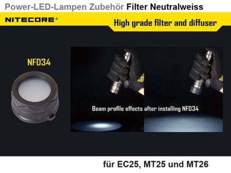 Nitecore Filter, neutralweiss, 34 mm