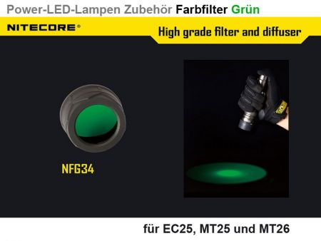 Nitecore Filter, green, 34 mm