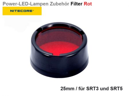 Nitecore Filter, red, 25 mm