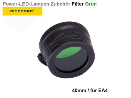 Nitecore Filter, grün, 40 mm