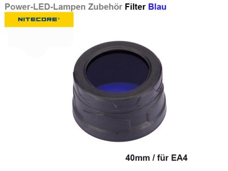 Nitecore Filter, blue, 40 mm