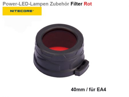 Nitecore Filter, rot, 40 mm
