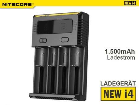 Nitecore NEW i4, Battery Charger