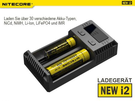Nitecore Intellicharge NEW i2EU, Battery Charger