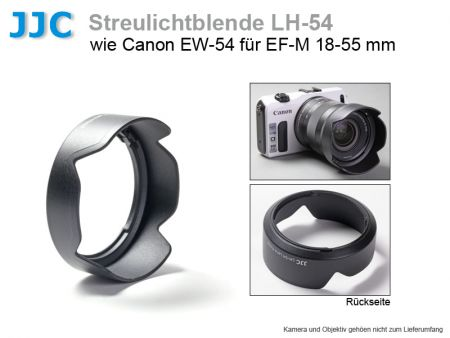 JJC LH-54 Lens Hood for Canon EF-M 18-55 mm, similar to Canon EW-54