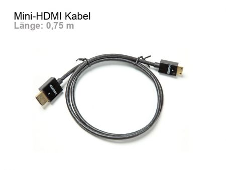 Flexible Mini HDMI Cable, Length 0,75 m