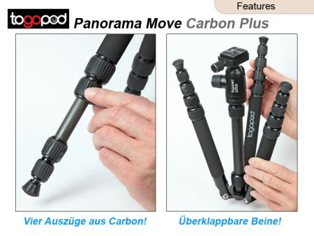 Tripod Togopod Panorama Move Carbon Plus