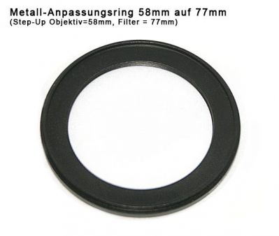 Step up Ring 58 to 77mm