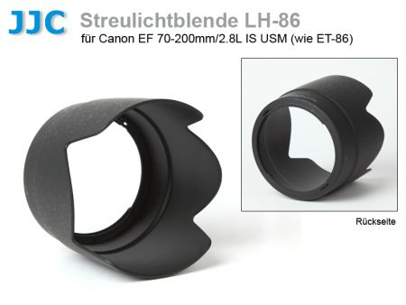 JJC LH-86 Lens Hood for Canon 70-200mm/2.8L IS USM, black