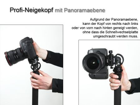 Monopod tilt head with panoramic base
