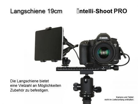 Langschiene 19cm Intelli-Shoot Pro, Doppelprofil, arca-kompatibel!