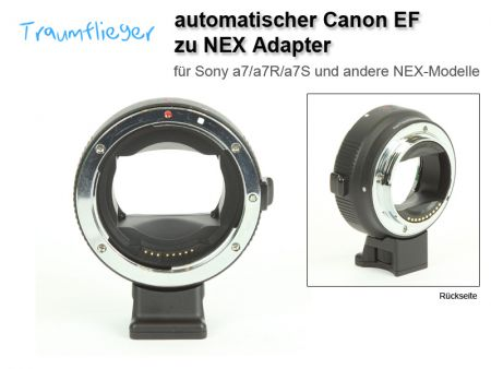 Automatischer Canon EF> Sony NEX E-Mount-Adapter (Sony A7)
