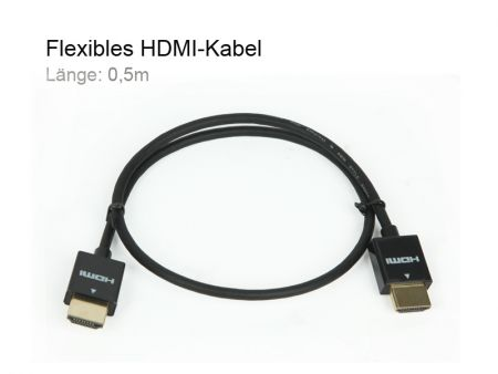 Flexible HDMI-cable MK72, Length 0,5m