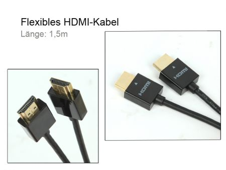 Flexible HDMI-cable MK75, Length 1,5m