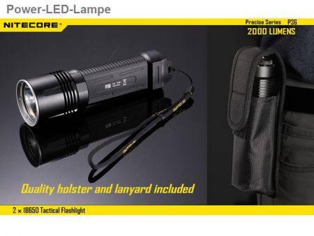 NiteCore P36, Power-LED-Lampe, 2000 Lumen