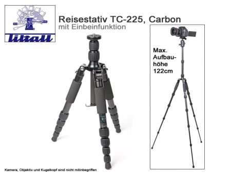 Tiltall Travelling Tripod TC-225 With Monopod, Carbon