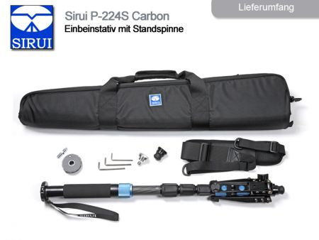 Sirui Monopod With Fold-Down Support Feet P-224S, Carbon