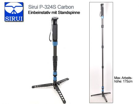 Sirui Monopod With Fold-Down Support Feet P-324S, Carbon