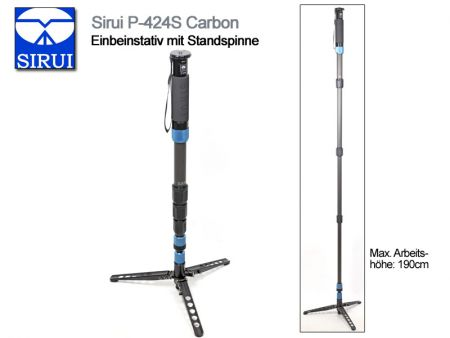 Sirui Monopod With Fold-Down Support Feet P-424S, Carbon