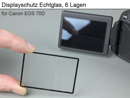Displayprotection Realglass for Canon 70D / 80D