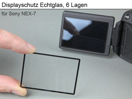 Displayprotection Real Glass for Sony NEX-7