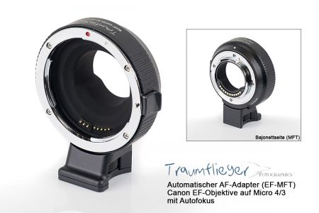 Traumflieger AF-adapter (EF-MFT) with superfast autofocus