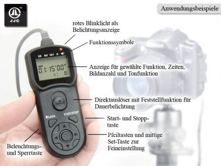 Traumflieger Timer JJC TM-G for Nikon (MC-DC1-compatible)