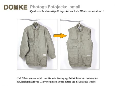 Domke PhoTOGS Photojacket, small