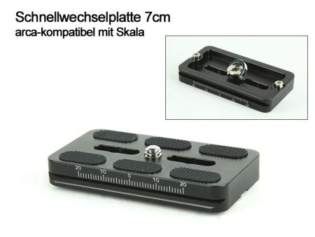 Quick Release Plate 7 cm - arca-swiss compatible with scale