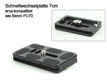 Quick Release Plate 7 cm - arca-swiss compatible like Benro PU70