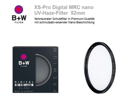 B+W UV-Haze-Filter XS-Pro Digital MRC nano, 52mm