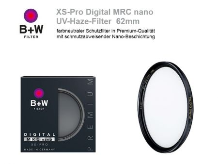 B+W UV-Haze-Filter XS-Pro Digital MRC nano, 62mm