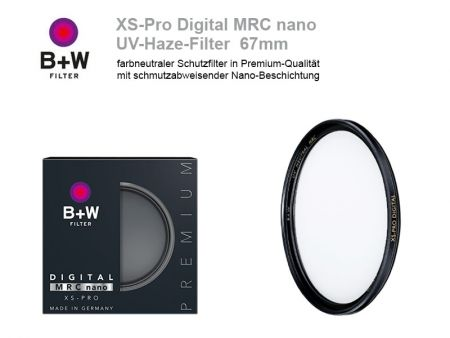B+W UV-Haze-Filter XS-Pro Digital MRC nano, 67mm