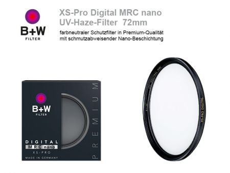 B+W UV-Haze-Filter XS-Pro Digital MRC nano, 72mm