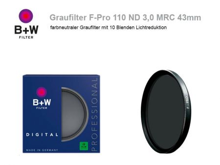 B+W ND Filter F-Pro 110 ND3.0 MRC, 43mm