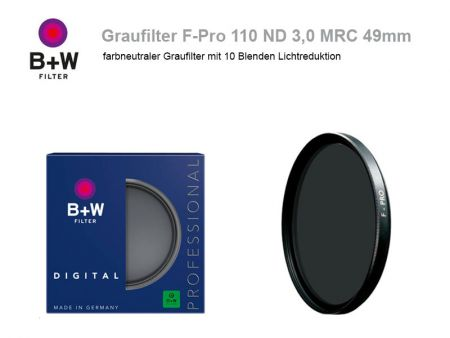 B+W ND Filter F-Pro 110 ND3.0 MRC, 49mm