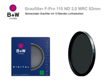 B+W ND Filter F-Pro 110 ND3.0 MRC, 52mm