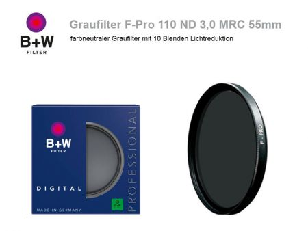 B+W ND Filter F-Pro 110 ND3.0 MRC, 55mm