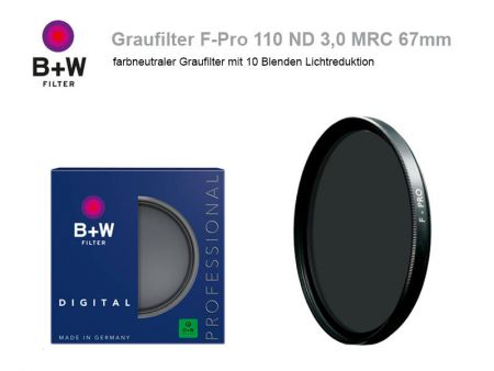 B+W ND Filter F-Pro 110 ND3.0 MRC, 67mm