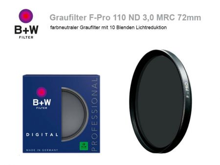 B+W ND Filter F-Pro 110 ND3.0 MRC, 72mm