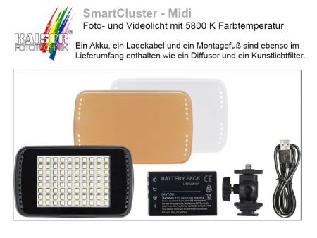 Kaiser SmartCluster Midi Photo and Video Light